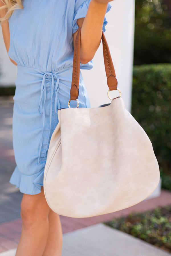 Let's Take A Trip Tote- Ivory
