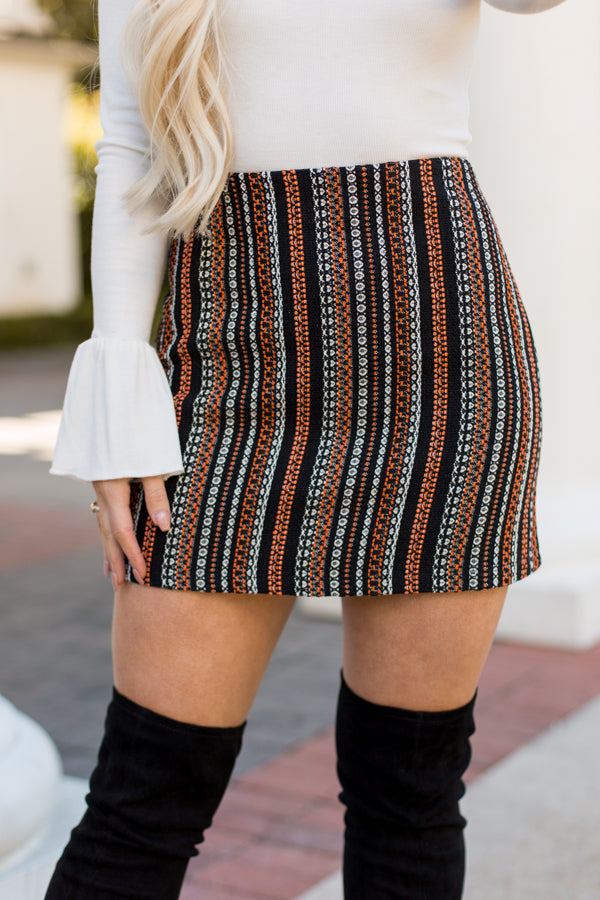 All About Fall Skirt- Black