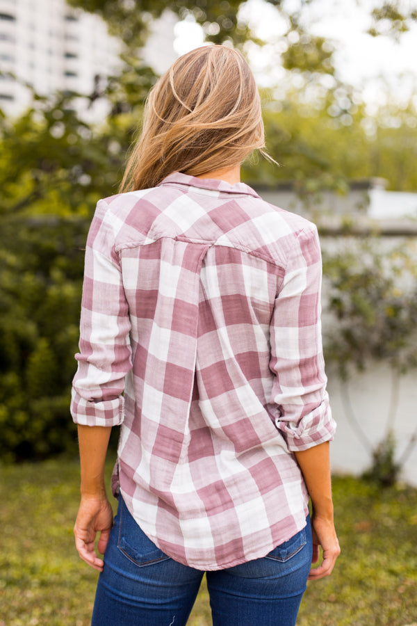 Picnic In The Fall Flannel- Mauve