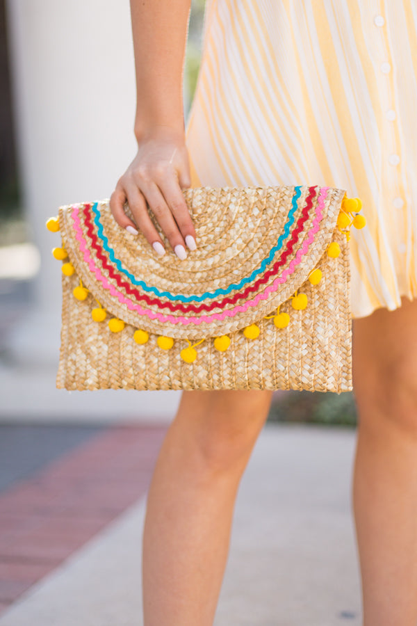 Fiesta Time Straw Clutch