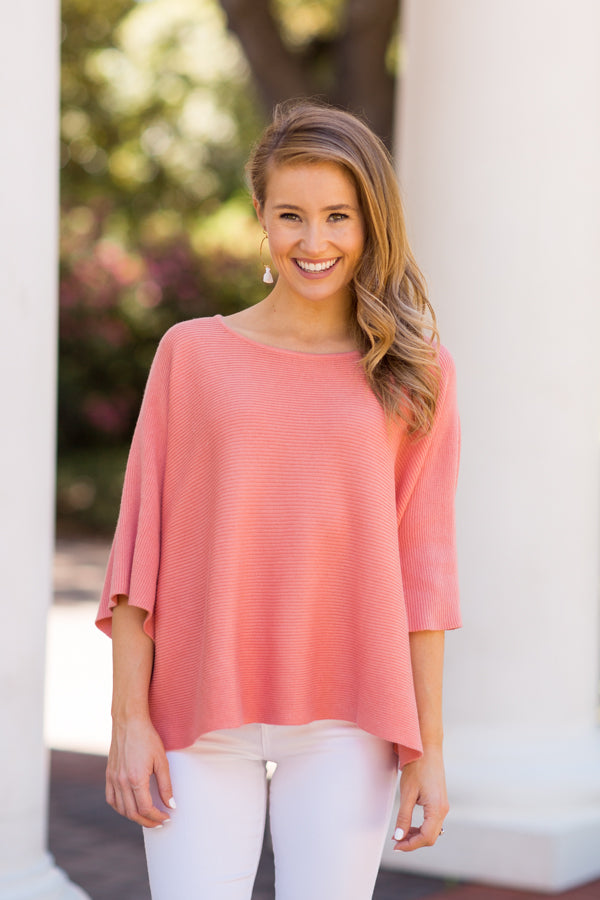 Spring Breeze Sweater - Salmon