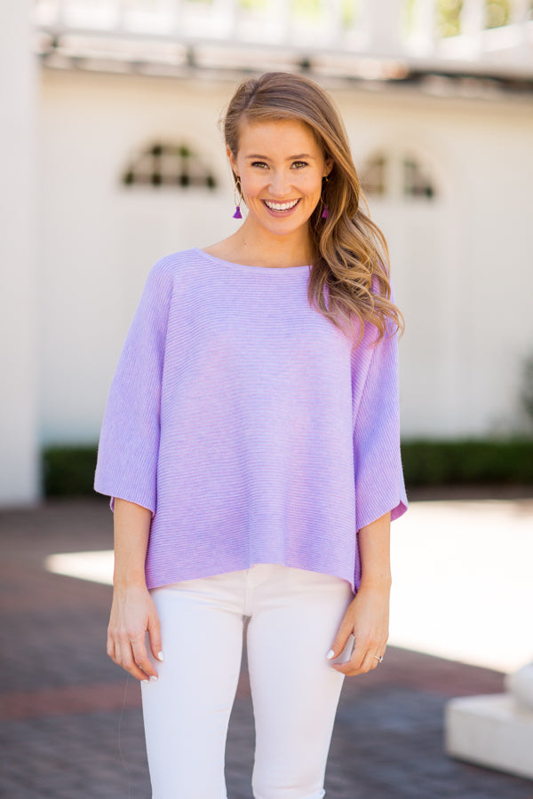 Spring Breeze Sweater - Lavender