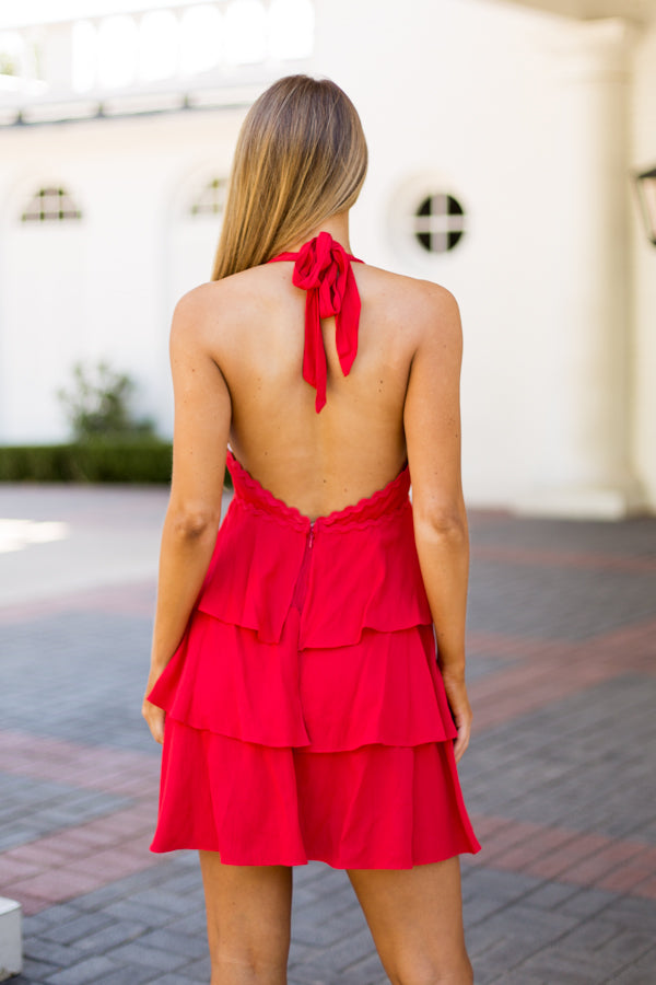 Salsa With Me Dress- Red