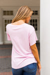 Saturday School Retro Love Tee- Pink