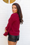 Amuse Society Rodas Sweater- Crimson
