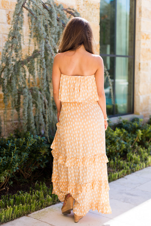 Pensacola Paintbrush Maxi Dress- Yellow