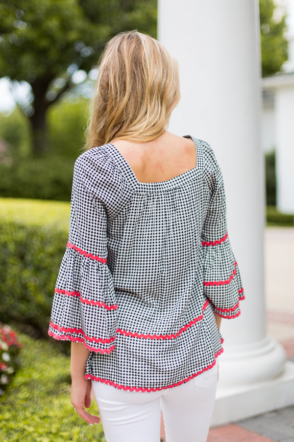 Gingham In The South Top