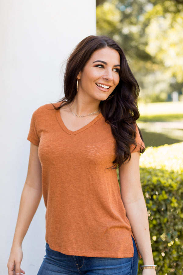 Pumpkin Spice Tee- Burnt Orange