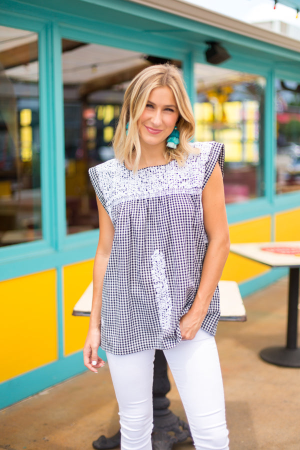 The Haley Top- Black & White