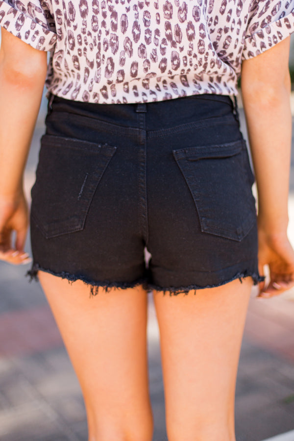 Just USA Jean Shorts- Washed Black