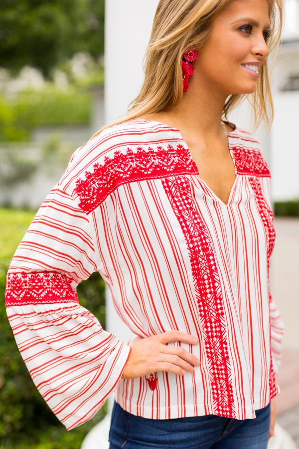 The Stephanie Top- Red