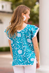 The Marina Top - Turquoise