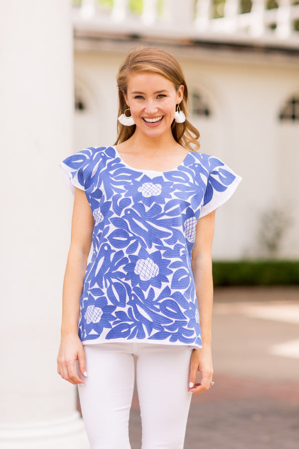 The Marina Top - Periwinkle