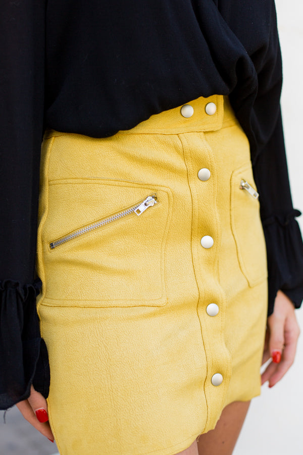 Meet Me At The Met Skirt- Mustard