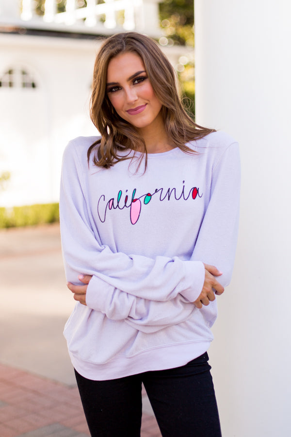 Wildfox California Baggy Beach Jumper - Iris