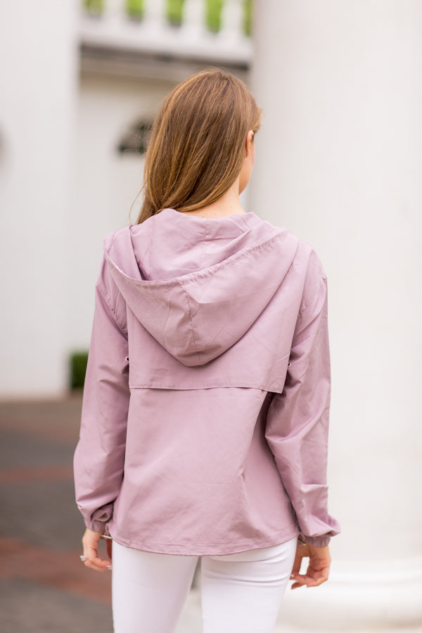 Rain Check Windbreaker - Mauve