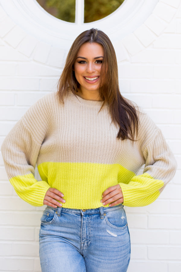 Highlight Of My Life Sweater - Neon Lime