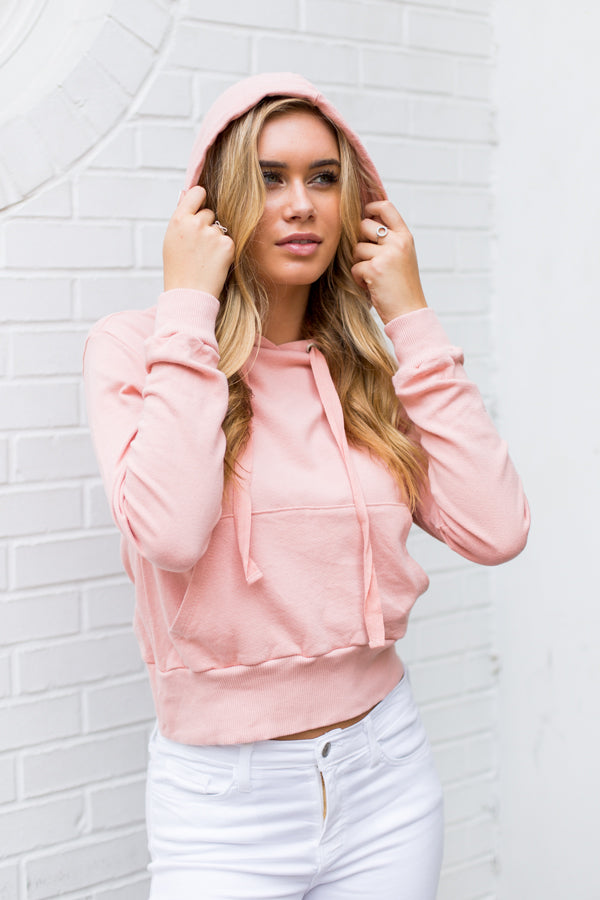 It's A Girl Hoodie- Dusty Rose