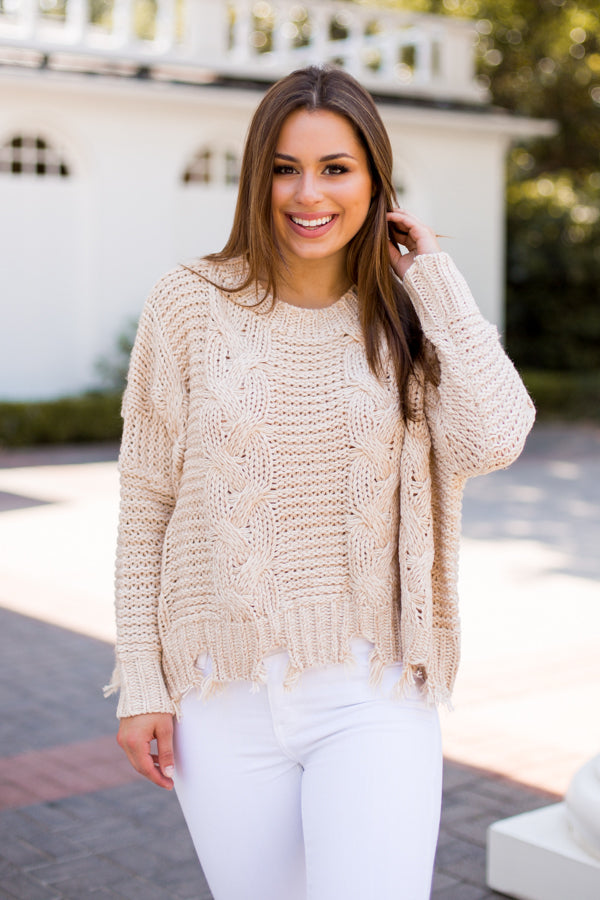 Sweater Of The Season - Taupe
