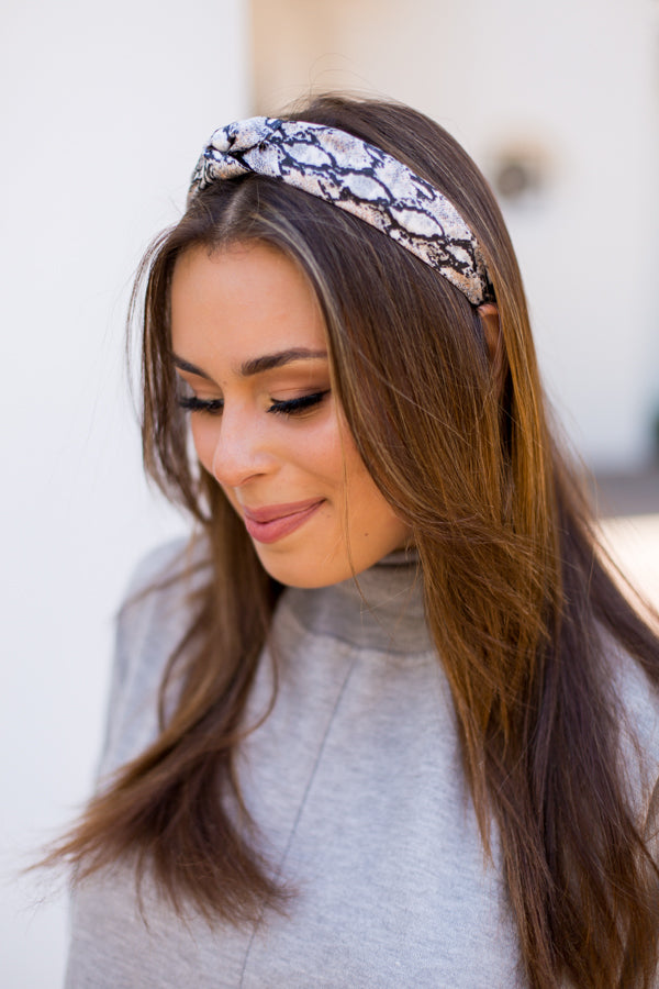 Snake The Day Headband - Gray