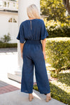 Never Too 90's Jumpsuit- Navy
