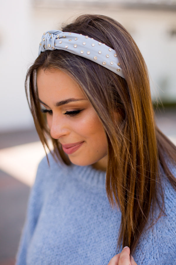 Be Dazzled Headband - Dusty Blue