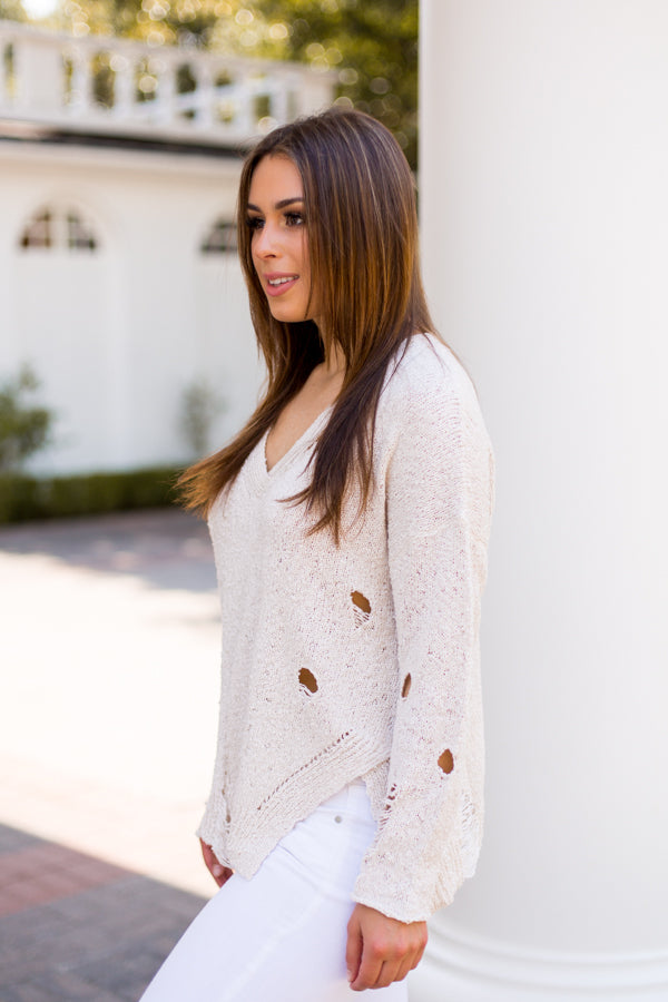 Damsel In Distressed Sweater - Sand