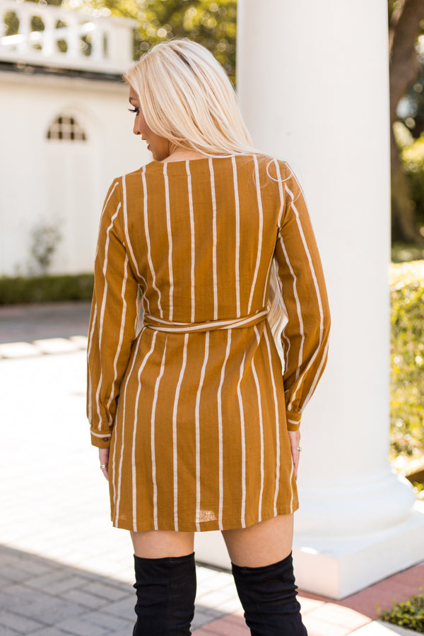 Bee's Knees Dress- Mustard