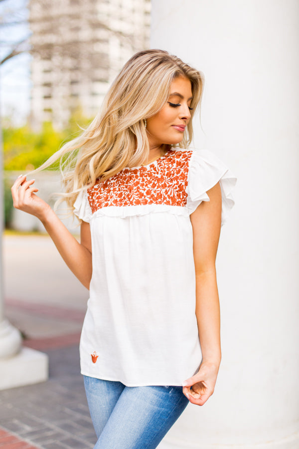 The Austin Top- White