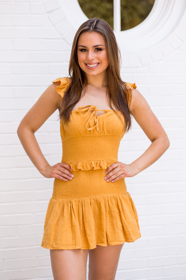 Huddle Up Dress - Butterscotch