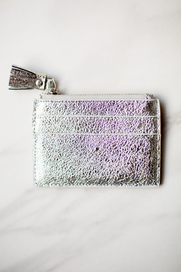 Shiraleah Leather Wallet- Silver Shimmer