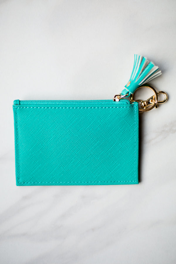 Shiraleah Leather Wallet- Turquoise