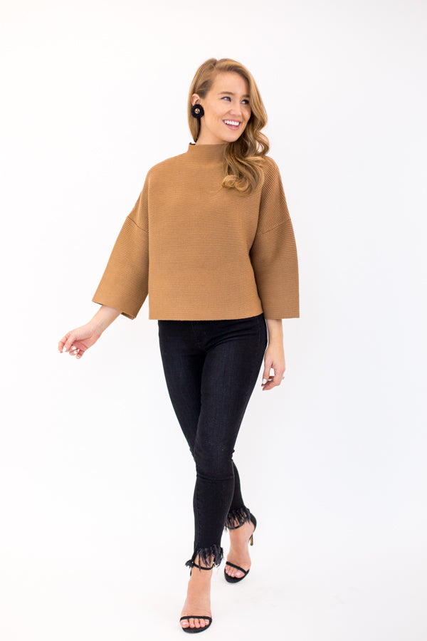 Chic As Ever Sweater - Camel