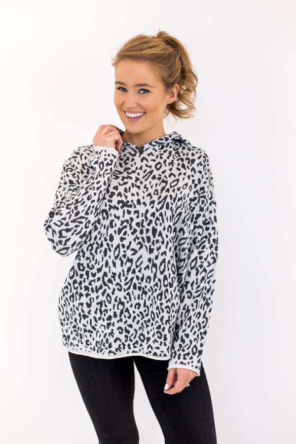 Party Animal Pullover - Grey Leopard