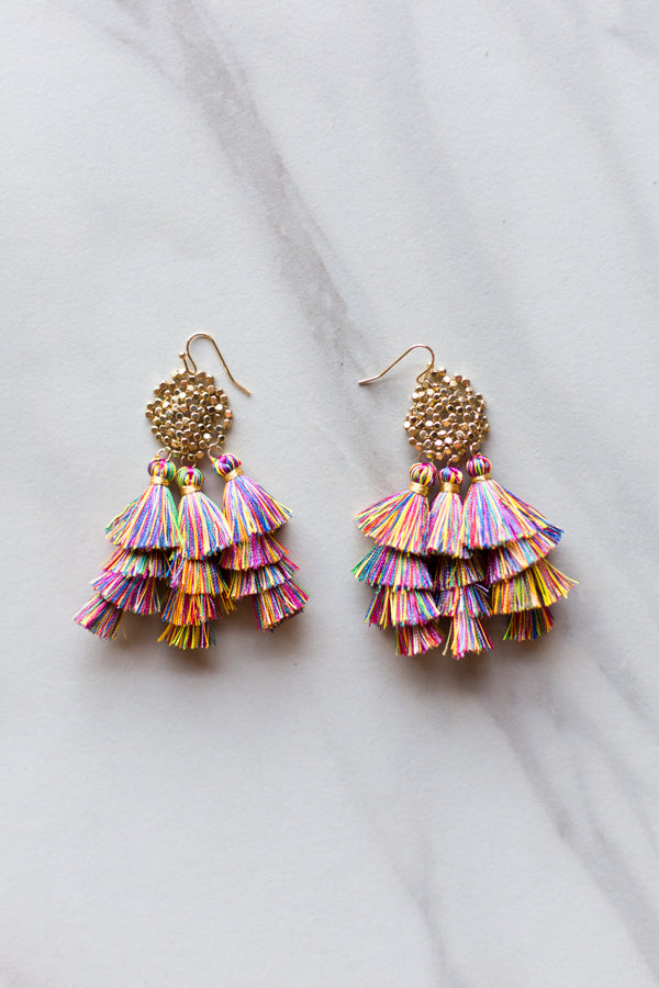 Multicolored Frenzy Earrings