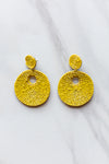Disco Earrings- Yellow
