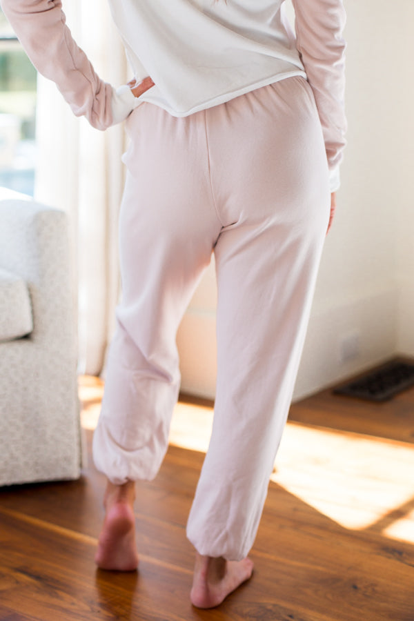 Wildfox Mellow Stripes Easy Sweats- Quartz