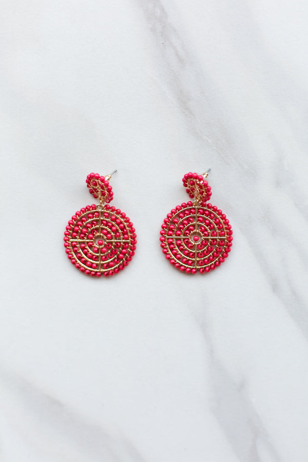 Cecilia Earrings- Red