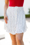 Hey Good Lookin' Skirt- White