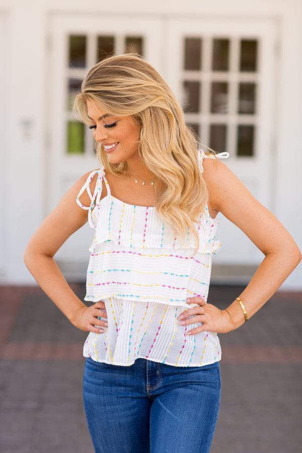 Icing On The Cake Top- White