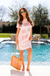 Ban.do Pina Colada Club T-Shirt Dress- Pink