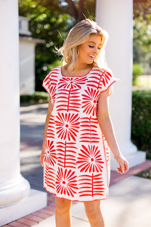The Ava Dress- Red