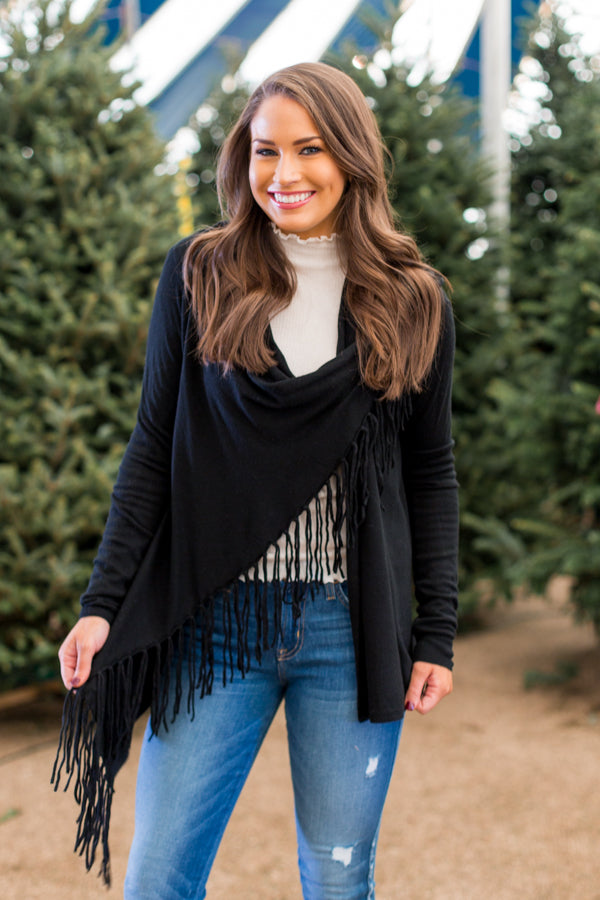 Spirit Scarf Top- Black