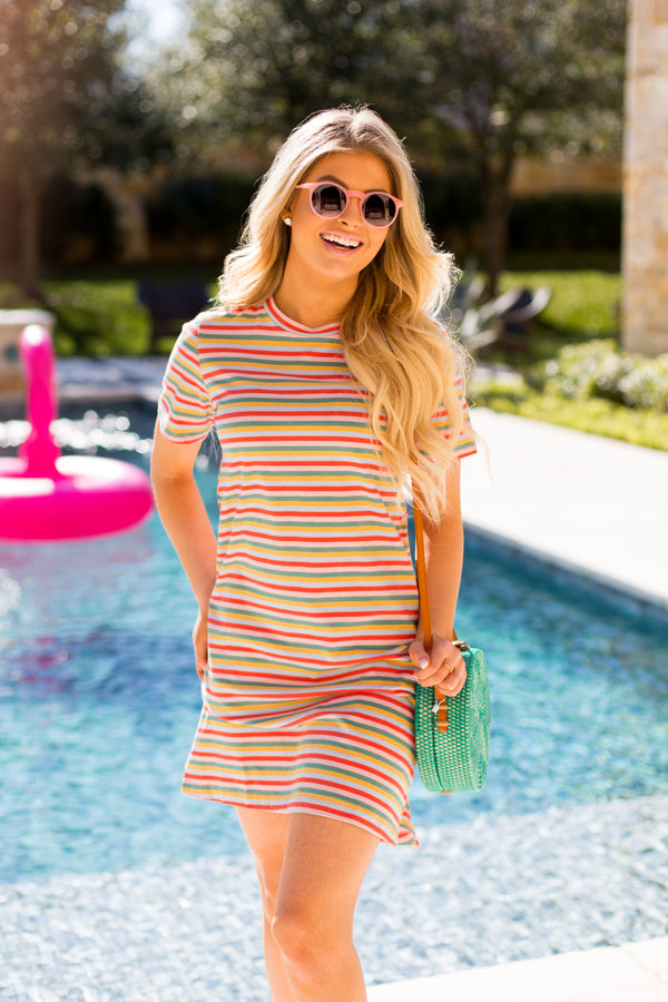 Ban.do Retro Rainbow T-Shirt Dress