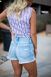Bases Loaded Light Denim Shorts