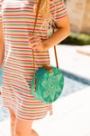 Bungalow Shoulder Strap Bag- Teal