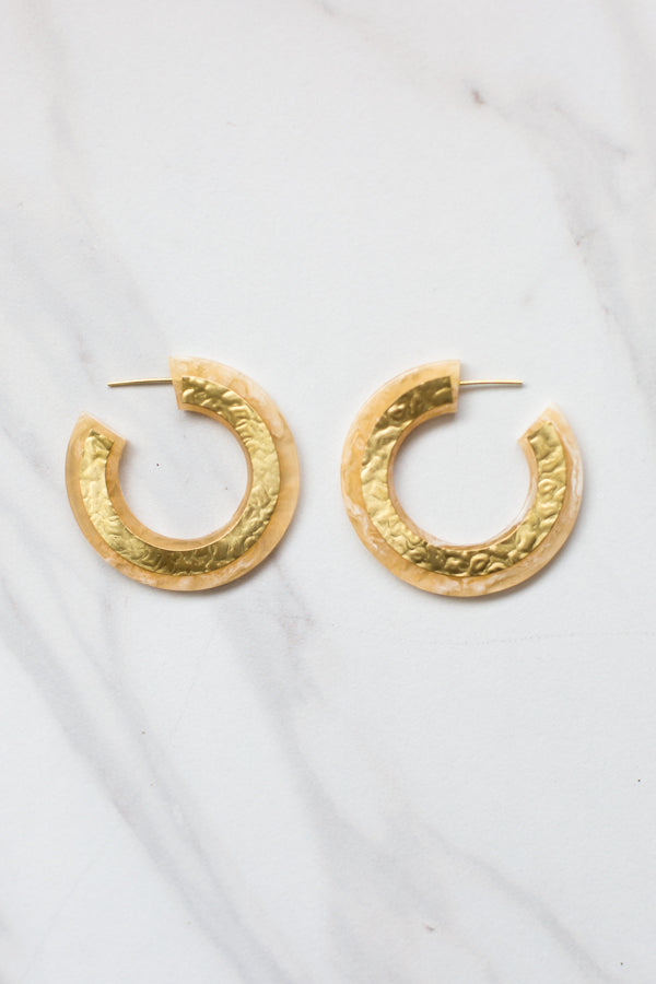 Gold Foil Acrylic Earrings
