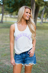 Nashville Tank- Off White & Lilac