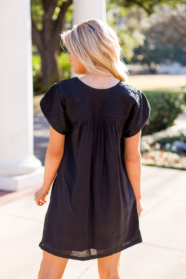The Selena Dress- Black
