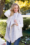 Plaid Fur You Vest- Ivory